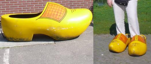 Διακρίνεται το ν�ο παπούτσι και η πρόβα του...