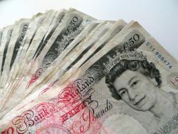 50-pound notes