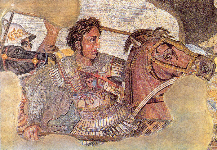 Battle of Issus mosaic, detail