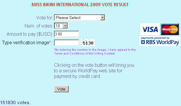 pay to vote for miss bikini international