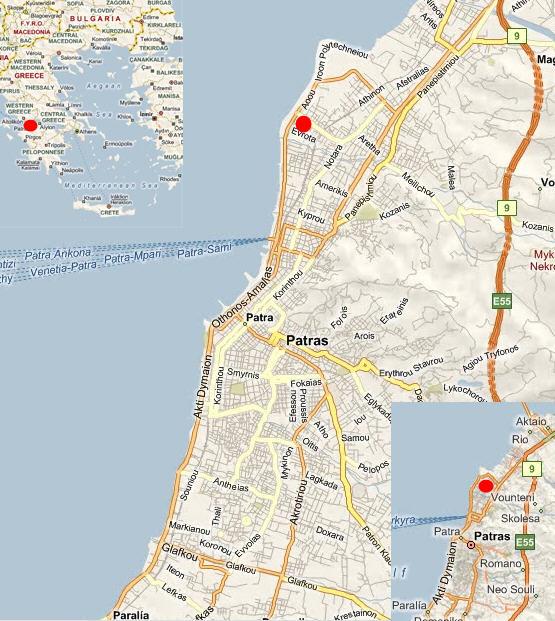 Map of Patras