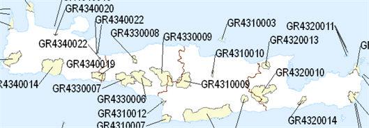 Natura 2000 Network in Crete