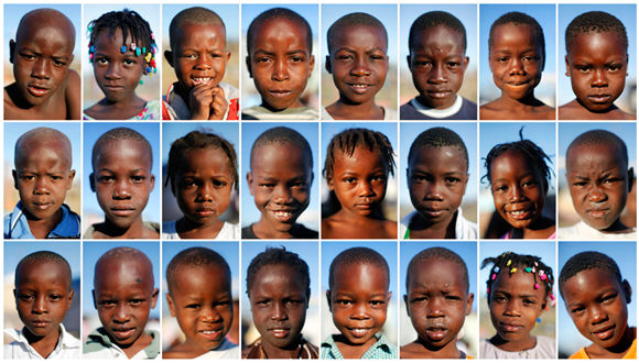 Haiti kids (From The Boston Globe's The Big Picture, REUTERS/Jorge Silva)