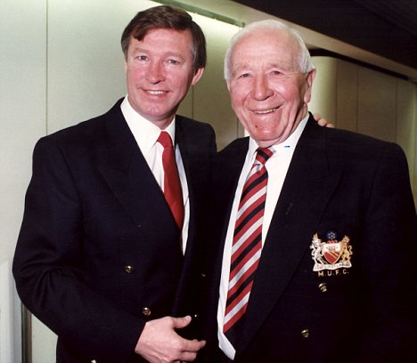 Sir Alex Ferguson with Sir Matt Busby