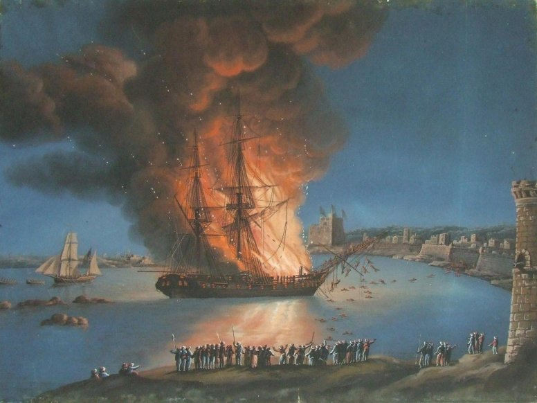 Burning of Philadelphia in the Harbor of Tripoli 1805
